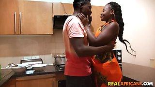 Sexy African Queen Capitu gets Fucked Hard On Sink