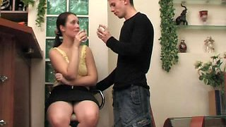 Delicious Russian MILF Judith boned by a younger guy