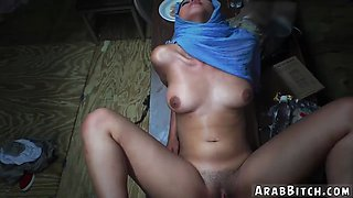 Arab school girl Sneaking in the Base