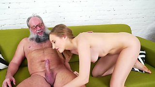 Young sluts loves to suck and ride stiff cock of old lover