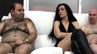 Young brunette Spanish girl loves cum so hard that wants to