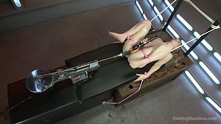 Tied Babe Fucked By A Fucking Machine