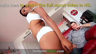 Shake The Snake - Ebony Teen Blowjob Casting