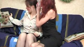Russian MILF dyke Judith in face sitting action