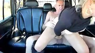 Romanian blonde fucks an old guy
