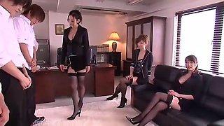 Crazy Japanese chick Leila Aisaki, Akari Hoshino, Risa Murakami in Horny Lingerie, Fetish JAV movie