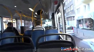 Fucking and Sucking with Cumshot on a Bus