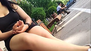 Perfect pantyhose legs and upskirt (ilk saniyede bosaltir)