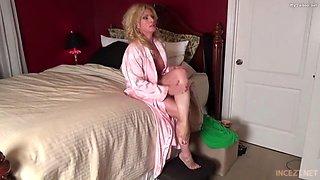 pervert mother seducing son during strip poker card game