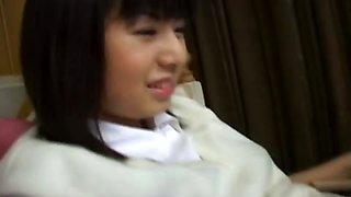 Japanese xxx schoolgirl down on her knees!