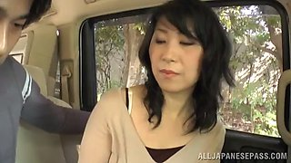 curvy bimbo with medium ass in skirt awarding her horny guy with blowjob in amateur shoot