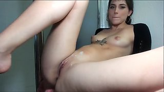 Very cute and elegant girl take BBC in web cam