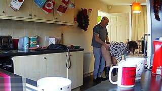 Housewife Milf Mum Mom Shagged Kitchen - Hidden IP Camera