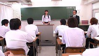 Risa Kasumi, Sho Nishino in Female Teachers Slave Trade part 1.1