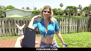 PervMom - Inspecting My Pervert Moms Boobs