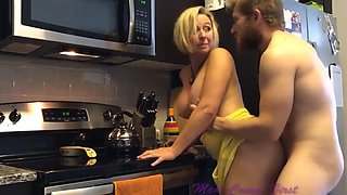 Fucking step mom in kitchen