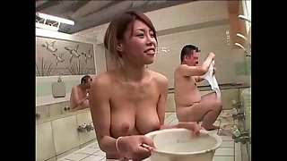 Japanese slut bath old man