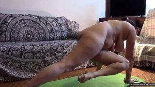my Stepmom does yoga completely naked
