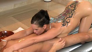 Tory Lane brought him upstairs and got him naked and fucked