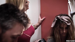 Sexually aggressive MILF Sarah Vandella is having a threesome with her hubby