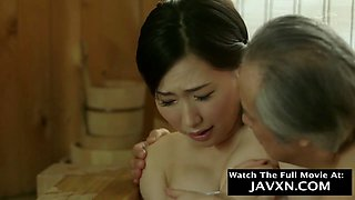Japanese MILF Fucked By Old Grandpa