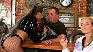 Pretty girlfriend Gina Killmer finds a big meat rocket
