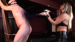 FemDom whips and controls until anal creampie
