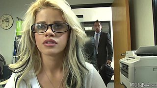 If the gorgeous, glasses wearing, blonde secretary Jessa Rhodes, got a job in