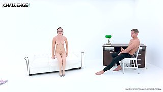 Slim babe Wendy Moon likes to suck a stiff shaft on the floor