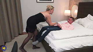 Busty mothers fuck hung sons