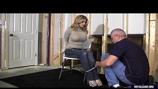 Slave bombshell is being tied up and abused roughly