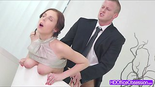 Hot secretary Antonia Sainz gets nailed hard by a bigcock of her boss