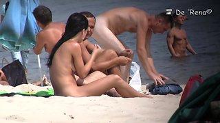 Every detail of beach nudist girl