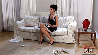 Maid Belicia gets spanked