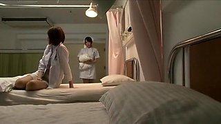 Horny Japanese girl Mimi Asuka, Nanako Mori, Chika Arimura in Hottest Nurse, Fingering JAV movie