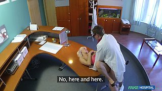 Perfect Sexy Blonde Gets Probed By Doctor On Reception Desk