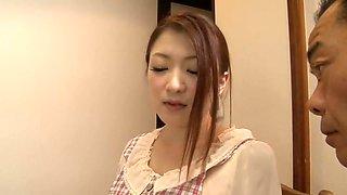 Hairy Japanese babe sucks and gets boned
