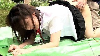 Petite Japanese schoolgirls getting fucked in the outdoors