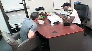 Blonde Getting Banged By Black Guy