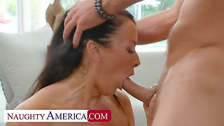 Naughty America: Cock Hungry Milf Reagan Foxx wants that young cock on PornHD