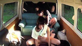 Petite Jav Idol Teen Ambushed And Fucked In The Back Of Van