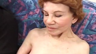 Granny got ran over by a huge cock.