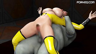 3d hentai final fuck 7 female crew of space slave battleship amado