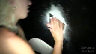 Blonde Slut Lacey at the Gloryhole