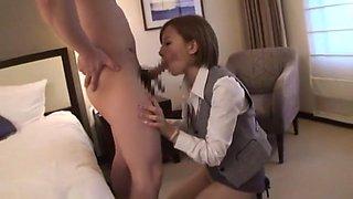 Exotic Japanese whore Sakura Ayane in Fabulous Fingering, Secretary JAV scene