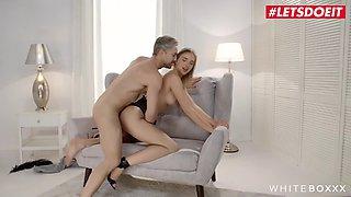 WhiteBoxxx - Big Ass Ukraine Oksana Shik Rides Big Cock in Kinky Fuck - LETSDOEIT