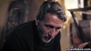 Priest manipulates and fucks a sinner bride