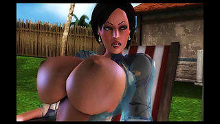 Naughty 3D mom double penetrated
