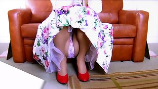 Squatting Upskirt Panties