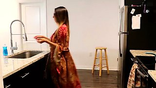 Dava Foxx Gets Fucked in the Kitchen by a Big Dick